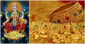 mahalakshmi with gold