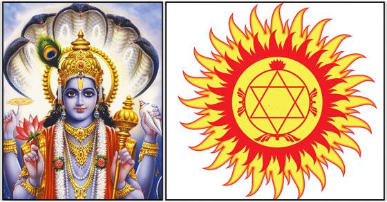 Vishnu sudharsana chakra