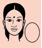 egg shape face
