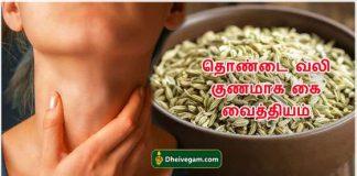 throat pain(thondai vali)