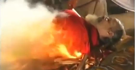 Siddhar on fire
