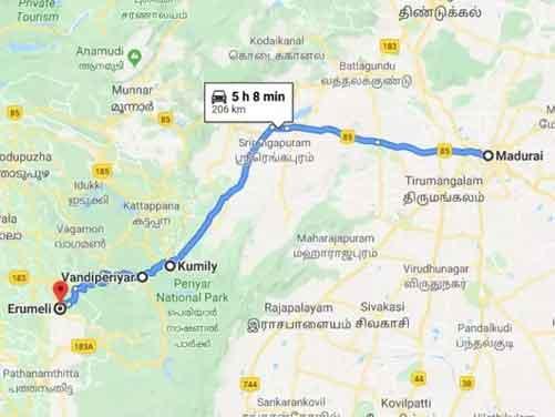 Sabarimala temple route