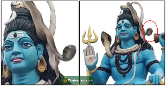 Lord siva statue snake