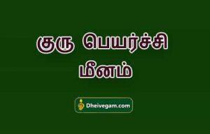 Guru peyarchi palangal Meenam
