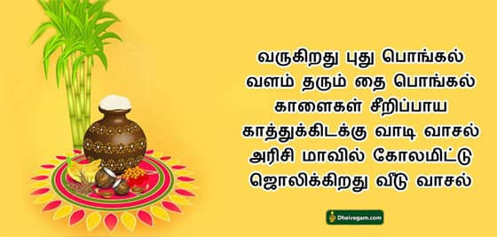Pongal wishes Tamil