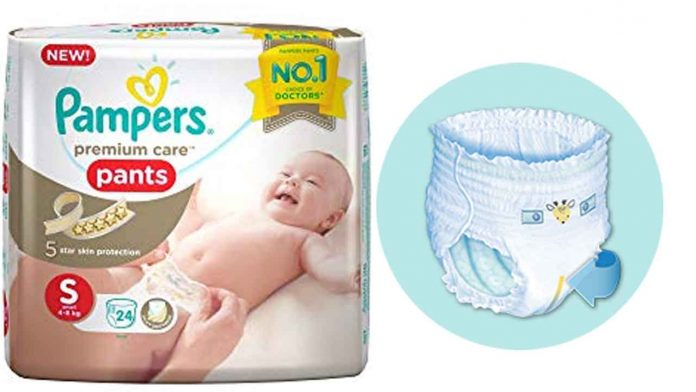 Pampers premium back strip