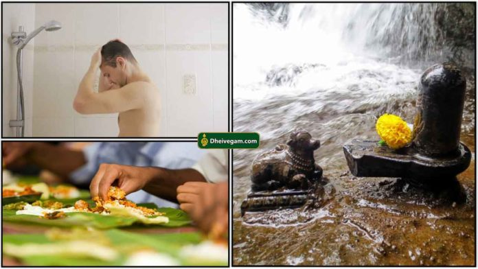 bathing-eating-nandhi-siva