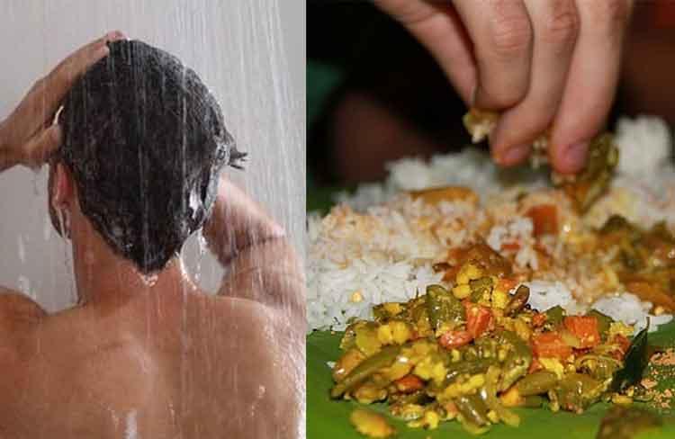 bathing-eating