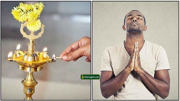 vilakku-praying