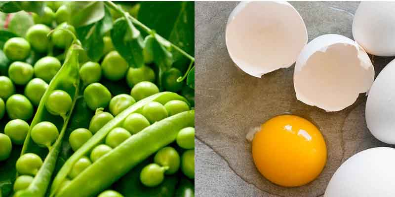 green-peas-and-egg